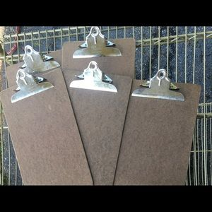 Group of 5 Bundle Vintage Tall Clipboards Gallery